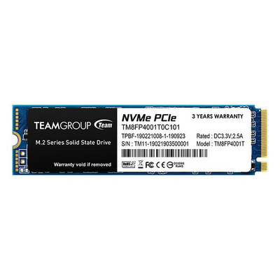 TEAMGROUP TM8FP4001T0C101 Team Group Dysk SSD MP34 1TB M.2 PCIe NVMe, 3000/2600 MB/s, IOPS 180/160K
