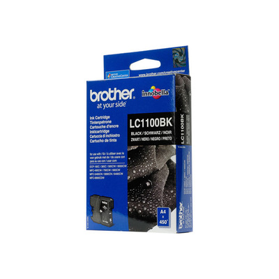 BROTHER LC1100BK Tusz Brother LC1100BK black 450str DCP395CN / DCP585CW / DCP6690CW