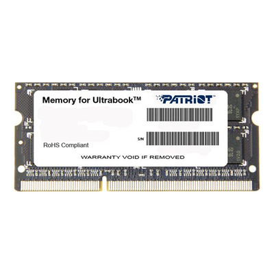 PATRIOT PSD34G1600L81S Patriot 4GB 1600MHz DDR3 Non-ECC CL11 1.35V SODIMM