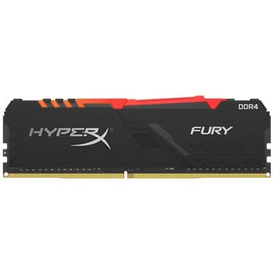 KINGSTON HX424C15FB3A/8 Kingston HyperX FURY 8GB 2400MHz DDR4 CL15 DIMM 1Rx8 RGB