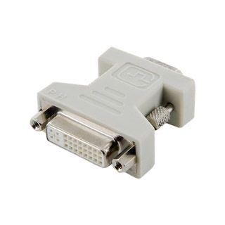 4World Adapter DVI-I [F] (24+5) > VGA [M], czarny