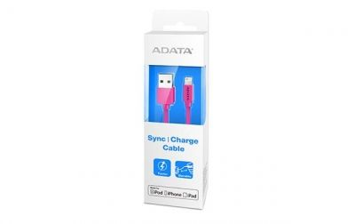 ADATA Kabel Sync and Charge Lightning, USB, MFi (iPhone, iPad, iPod), Różowy