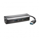 Adapter Kensington UA3000E USB 3.0 to Ethernet Adapter with USB Hub
