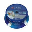 Verbatim BluRay BD-R SL | 25 GB | x6 | 25 szt.|  DATALIFE | do nadruku