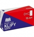 KLIP 15mm CZARNY/12 małe opakowania GRAND/POINT OFFICE(12) 5903364245641