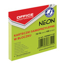 Bloczek samop. OFFICE PRODUCTS, 76x76mm, 1x100 kart., neon, zielony