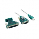 4World Adapter USB 2.0 do RS 232 DB9M DB25M - OEM