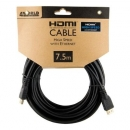 4World Kabel HDMI - HDMI, High Speed z Ethernet (v1.4), 3D, HQ, BLK, 7.5m