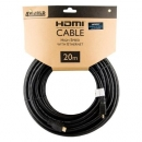 4World Kabel HDMI - HDMI, High Speed z Ethernet (v1.4), 3D, HQ, BLK, 20m