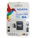 ADATA karta pamięci micro SDXC UHS-I 64GB (Video Full HD) +SDHC Adapter