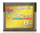 Adata CFast Card 8GB, Wide Temp, SLC, -40 to 85C