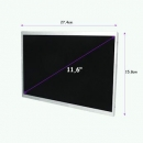 Qoltec Matryca LED 11.6´´ 1366*768 GLOSSY Slim - 40Pin, GRADE A+
